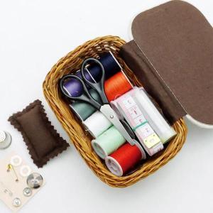 NEEDLEWORK ソーイングバスケット スクエア 裁縫道具セット/かわいい 北欧 雑貨 プレゼント 贈り物 お返し ギフト おしゃれ かわいい プチプラ 父の日 祝い 誕生|okayulabo
