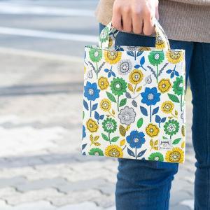 可愛い花柄の汚れにくいラミネート加工のミニバッグ サブバックとして使いやすいミニバッグ【kintoki】カバン/バッグ/手持ち/小さめ/花柄 クリスマスプレゼント|okayulabo