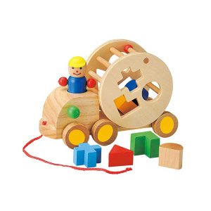 ウッデントイ パズルトラック 玩具/おもちゃ/オモチャ/木製/子供/キッズ/子ども/男の子/女の子 北欧 雑貨 プレゼント 贈り物 お返し ギフト おしゃれ かわいい|okayulabo
