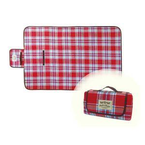 ピクニックル レジャーシート (S) レッドアクアチェック ピクニックシート/2〜3人用/折りたたみ/コンパクト収納 北欧 雑貨 プレゼント 贈り物 お返し ギフト お|okayulabo
