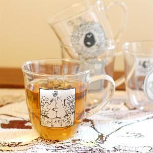 ムーミン モノトーン 耐熱ガラス マグカップ  【MOOMIN】 ガラス製コップ グラス タンブラー...