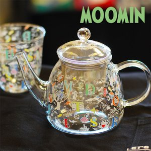 ムーミン ムーミンパパ・メモワール 耐熱ティーポット 【MOOMIN】紅茶/お茶/ガラス/軽量 祝い 誕生日 贈り物 退職 結婚 記念 引っ越し ブライダル 夏 2019年|okayulabo