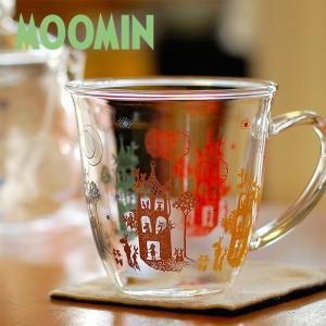 ムーミン NIGHTY NIGHT 耐熱ラウンドマグカップ 【MOOMIN】ガラス製コップ/グラス/タンブラー/食器/耐熱 祝い 誕生日 贈り物 退職 結婚 記念 引っ越し ブライダ|okayulabo