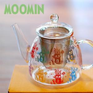 ムーミン NIGHTY NIGHT 耐熱ティーポット 【MOOMIN】紅茶/お茶/ガラス/軽量 祝い 誕生日 贈り物 退職 結婚 記念 引っ越し ブライダル 夏 2019年|okayulabo