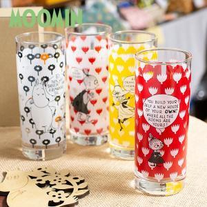 ムーミン コミックパターン ロングタンブラー 300cc 北欧おしゃれ&かわいいガラス製コップ【MOOMIN】グラス/タンブラー/食器/ジュース 祝い 誕生日 贈り物 退|okayulabo