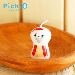 ピチオキャンドル サンタ キャンドル 北欧おしゃれ&かわいいキャンドル【pichio candle】ライト/キャラクター/置物/ろうそく/オブジェ/日本製/ 祝い 誕生日 贈 okayulabo