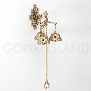 ゴーリキアイランド 真鍮 ベル ウォール 3連 650657|okazaki-seizai