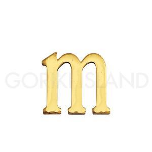ゴーリキアイランド 真鍮 切り文字 ブラスレター 30mm【m 小文字】820163|okazaki-seizai