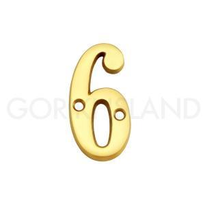ゴーリキアイランド 真鍮 切り文字 ブラスナンバー 51mm【6 数字】820236|okazaki-seizai