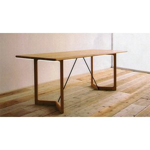 【SICURO】 ナラ節あり無垢材 ナチュラルダイニングテーブル W1540 okazaki-seizai