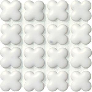 モザイクタイル フィオレッティ ASB-1313-B20 15花形紙貼り 1シート(20×20個)|okazaki-seizai