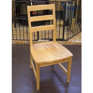 ホワイトオーク無垢材の椅子 座ぐりチェア okazaki-seizai