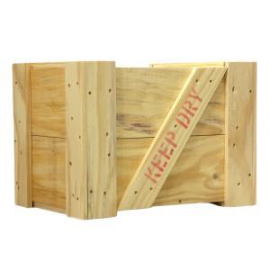 木箱 ふた付き 白木(無塗装) Mサイズ |okazaki-seizai