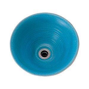 手作り手洗鉢 孔雀青(ピーコックブルー) Sサイズ|okazaki-seizai