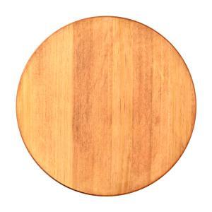 円形 パイン集成材 チェスナット塗装 直径40cm 厚さ1.8cm