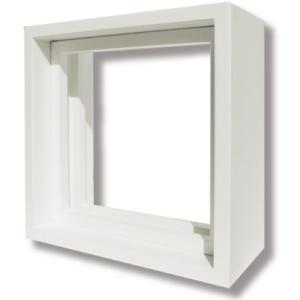 ステンドグラス『ピュアグラス』 Dサイズ専用木枠(白)|okazaki-seizai