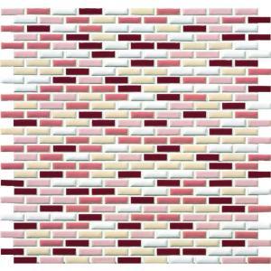 モザイクタイル ピスタ PIX-2707R-MIX-11 27×7角紙貼り 1シート(30×10個)|okazaki-seizai