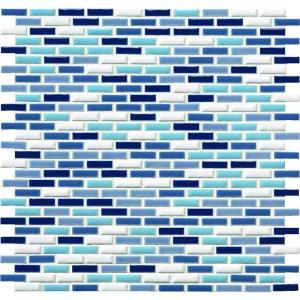 モザイクタイル ピスタ PIX-2707R-MIX-12 27×7角紙貼り 1シート(30×10個)|okazaki-seizai
