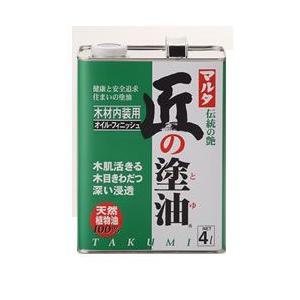 [送料無料]匠の塗油(クリアー) 4L|okazaki-seizai