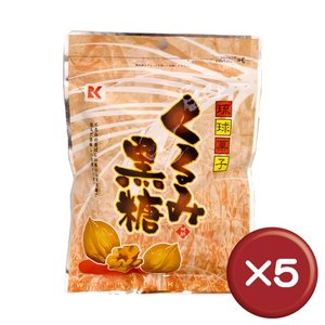 ポイント15倍 琉球黒糖 くるみ黒糖 120g 5袋セット