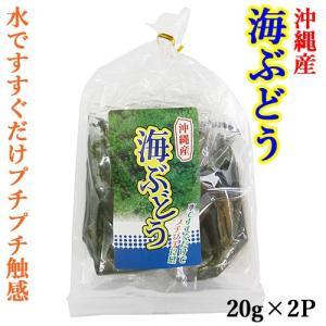 海ぶどう 海洋深層水使用 40g(20g×2P入り) 海ブドウ 沖縄 久米島 お土産