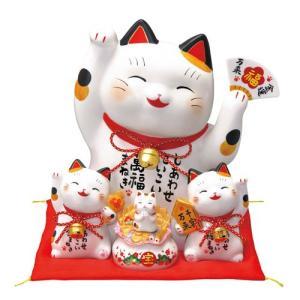 招き猫 彩絵お金まねき猫(萬福まねき)(貯金箱)