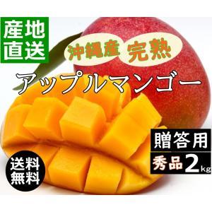 沖縄産マンゴー 2kg 贈答用 新鮮 甘くて 美味しい 4玉〜6玉入り アップルマンゴー 沖縄糸満産 産地直送 okinawalover