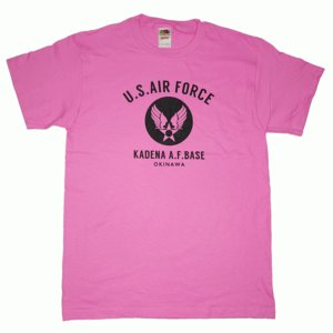 USAF エアフォース カデナ ミリタリー アザレア  メンズ 半袖 ティシャツ 沖縄お土産 大人気|okinawamarket
