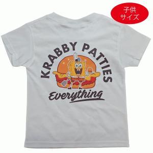 子供服 男の子 女の子 スポンジボブ バーガー KRABBY PATTIES Tシャツ キャラクター 白 キッズ SPONGEBOB ティシャツTシャツ okinawamarket