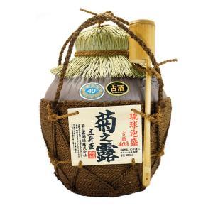 泡盛 菊之露 古酒40度 五升シュロ縄巻(壺)(甕),菊之露酒造,