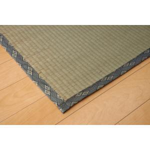 畳上敷き 国産 い草 カーペット 6畳 国産 糸引織 湯沢 本間6畳 約286×382cm|okitatami