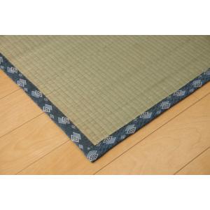畳上敷き 国産 い草 カーペット 6畳 国産 双目織 ほほえみ 六一間6畳 約277×368cm|okitatami