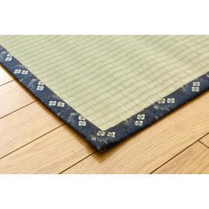 ござ 国産 い草 糸引織 い草上敷 日本の暮らし 江戸間8畳(約352×352cm|okitatami