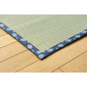い草 上敷き カーペット 国産 糸引織 岩木 江戸間 6畳 約261×352cm|okitatami