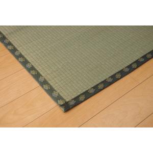 畳上敷き 国産 い草 カーペット 8畳 国産 双目織 松 六一間8畳 約370×370cm|okitatami