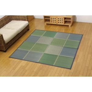 国産 い草花ござ FUBUKI グリーン 江戸間4.5畳(約261×261cm|okitatami