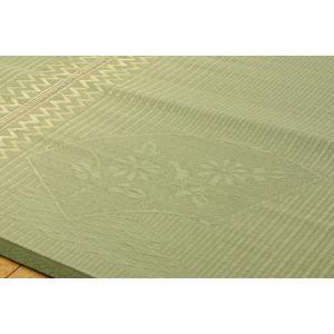い草 ラグ 花ござ カーペット ラグ 6畳 国産 扇 本間6畳 約286×382cm|okitatami