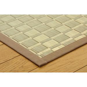 い草 ラグカーペット 8畳 国産 掛川織 松川 ベージュ 本間8畳 約382×382cm|okitatami