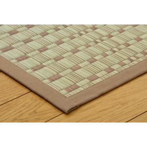い草 ラグカーペット 6畳 国産 掛川織 奥丹後 ベージュ 本間6畳 約286×382cm|okitatami