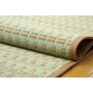 い草 ラグカーペット 4.5畳 掛川織 雲仙 ベージュ 江戸間4.5畳 約261×261cm|okitatami