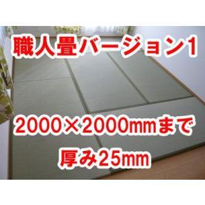 オーダーサイズ 職人畳バージョン1  置き畳 へりつき 2枚 2000×2000mmまで 厚み25mm|okitatami