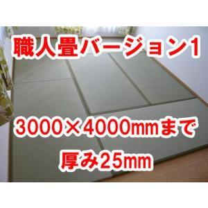 オーダーサイズ 職人畳バージョン1  置き畳 へりつき 6枚 3000×4000mmまで 厚み25mm|okitatami