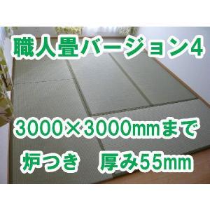 畳 オーダーサイズ カット 置き畳 へりつきオーダーサイズ 職人畳バージョン4 4.5枚 炉付 3000×3000mmまで 厚み55m|okitatami