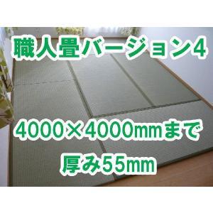 畳 オーダーサイズ カット 置き畳 へりつきオーダーサイズ 職人畳バージョン4 8枚 4000×4000mmまで 厚み55mm|okitatami