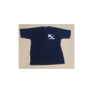 紺のTシャツに前面白文字職人マークタイプ |okitatami