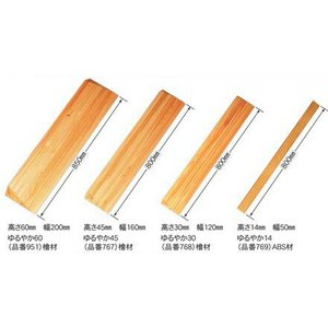 安心スロープゆるやか ゆるやか35 シクロケア製 屋内用木製スロープ|okitatami