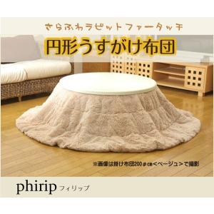 フィラメント素材 こたつ薄掛け布団単品 『フィリップ円形』 径200cm|okitatami