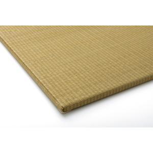 い草 置き畳 ユニット畳 国産 無地 シンプル  プラード ベージュ 約70×70cm×1.7cm 単品|okitatami