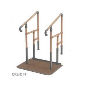 簡易てすり あがりかまち用 たちあっぷCKE-01-1 両手すり ステップ台なし 矢崎化工株式会社|okitatami