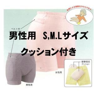 衝撃吸収 ラ・クッションパンツ(クッション付き)S,M,L  エンゼル 男性用 グレー|okitatami